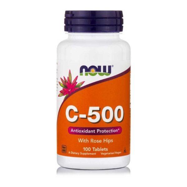 Βιταμίνη-C-500-Με-Σκόνη--Άγριας-Τριανταφυλλιάς-100-Ταμπλέτες-733739006707-Orange-Bio
