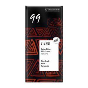 Μαυρη-σοκολατα-99%-κακάο-80gr-Vivani-Orange-Bio