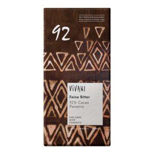 Μαύρη-σοκολάτα-92%-κακάο-80gr-Vivani-Orange-Bio