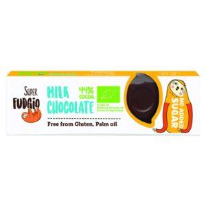 Σοκολάτα-Γάλακτος-Χωρίς-Ζάχαρη-Χωρίς-Γλουτένη-40gr-Orange-Bio