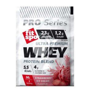 Ultra-Premium-Whey-Protein-Blend-Πρωτεΐνη-ορού-γάλακτος-σε-σκόνη-γεύση-παγωτό-φράουλα-30γρ-Fitspo-Orange-Bio