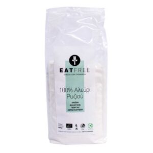 Αλεύρι ρυζιού χωρίς γλουτένη 500gr eatfree orange bio