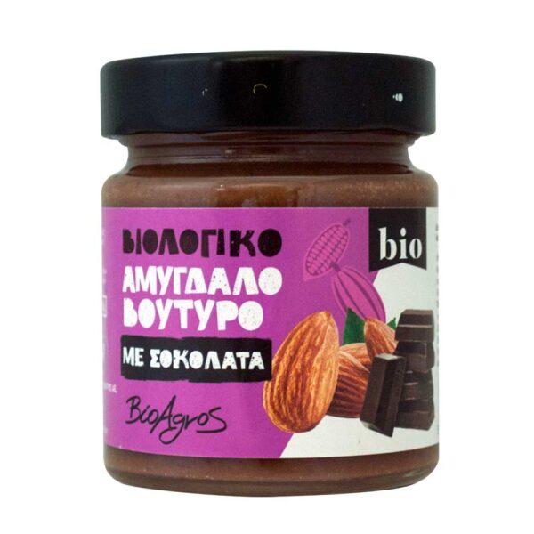 Αμυγδαλοβούτυρο με σοκολάτα, 180gr, Βιοαγρός, orange bio