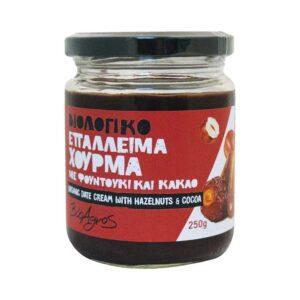 Επάλλειμα χουρμά με φουντούκι & κακάο, 250gr, Βιοαγρός, orange bio