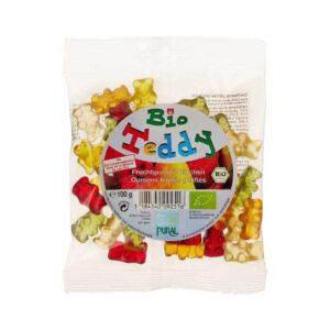 Ζαχαρωτά αρκουδάκια χωρίς ζελατίνη χωρίς γλουτένη, 100gr, pural, orange bio