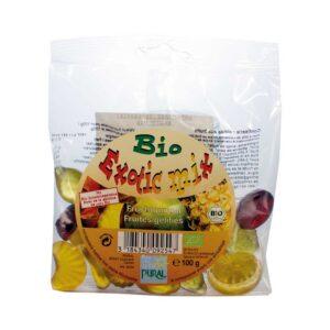 Ζαχαρωτά φρουτάκια exotic mix χωρίς γλουτένη, 100gr, pural, orange bio