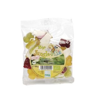 Ζαχαρωτά φρούτων jungle χωρίς γλουτένη, 100gr, pural, orange bio