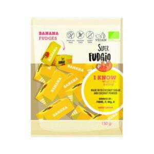 Καραμέλα καρύδας με μπανάνα χωρίς γλουτένη, 150gr, fudgio bio, orange bio