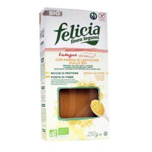 Λαζάνια κίτρινης φακής χωρίς γλουτένη, 250gr, Βιοαγρός, orange bio