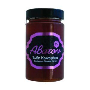Μέλι κωνοφόρα ανθη, 400gr, abaton, orange bio