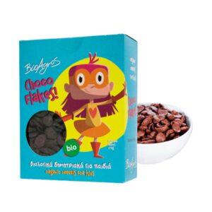 Νιφάδες δημητριακών με σοκολάτα, 275gr, Βιοαγρός, orange bio