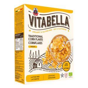 Νιφάδες καλαμποκιού χωρίς γλουτένη, 225gr, vitabella, orange bio