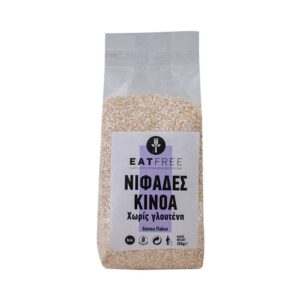 Νιφάδες κινόα χωρίς γλουτένη, 300gr, eat free, orange bio
