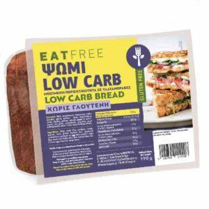 Βιολογικό ψωμί low carb, eat free, 190 gr, orange bio