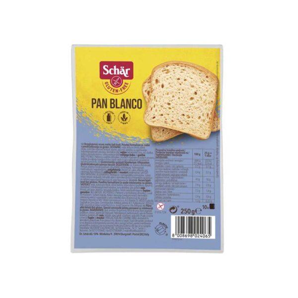 Λευκό ψωμί σε φέτες χωρίς γλουτένη, schar, 250 gr, orange bio