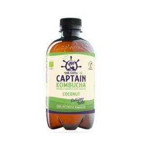 Πράσινο Τσάι Με Άρωμα Καρύδα kombucha 400ml, the gutsy captain kombucha, orange bio