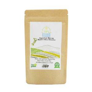 Βιολογική τσάι από φύλλα αγριελιάς Μάνης, herbs in the sun, 20 φακελάκια, orange bio