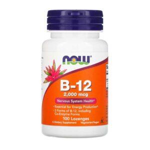 Βιταμίνη b 12 1000mcg σε παστίλιες, now foods, 100 παστίλιες, orange bio