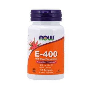 Βιταμίνη e 400 268mg σε μαλακές κάψουλες, now foods, 50 μαλακές κάψουλες, orange bio