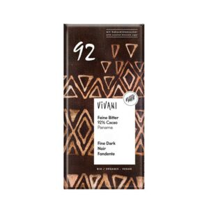 Μαύρη σοκολάτα 92% κακάο με ζάχαρη καρύδας, vivani, 80gr, orange bio