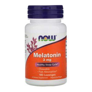 Μελατονίνη 3mg σε παστίλιες, now foods, 180 παστίλιες, orange bio