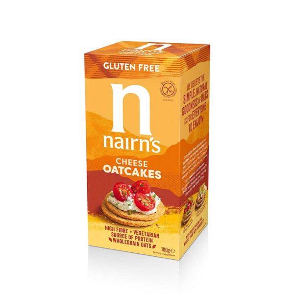 Μπισκότα βρώμης χωρίς γλουτένη με τυρί, nairn's, 180gr, orange bio
