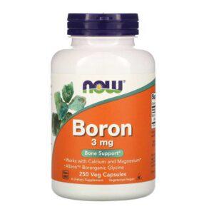 boron 3mg σε φυτικές κάψουλες, now foods, 250 φυτικές κάψουλες, orange bio