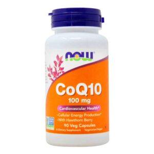 coq10 100mg σε κάψουλες, now foods, 90 φυτικές κάψουλες, orange bio