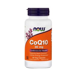 coq10 30mg σε κάψουλες, now foods, 60 φυτικές κάψουλες, orange bio