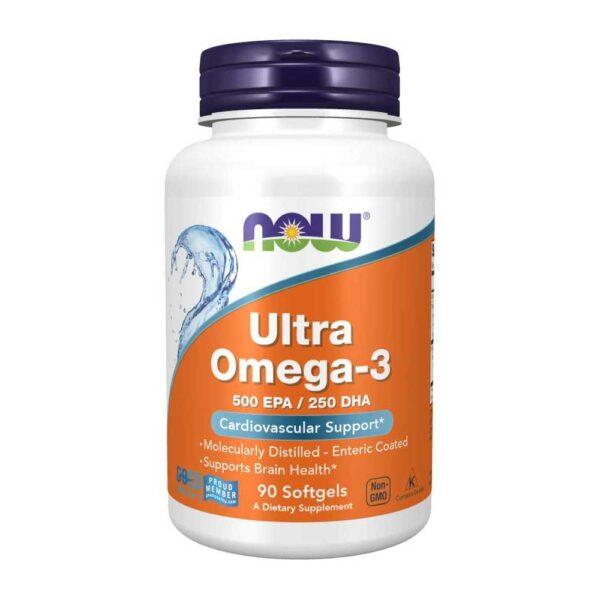 ultra Ωμέγα 3 σε μαλακές κάψουλες, now foods, 90 μαλακές κάψουλες, orange bio